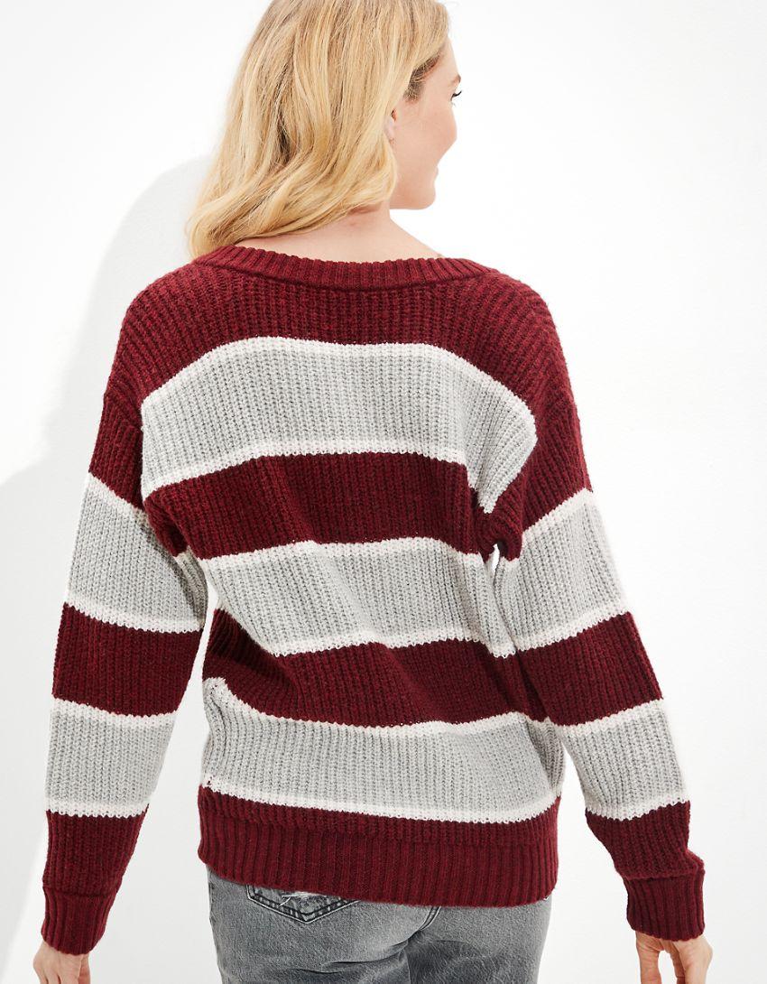 AE Oversized Vintage V-Neck Sweater