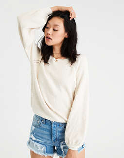 Ae Boucle Balloon Sleeve Sweater by American Eagle Outfitters