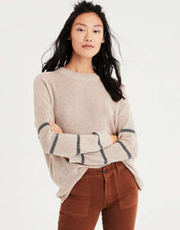 Ae Arm Stripe Pullover Sweater by American Eagle Outfitters