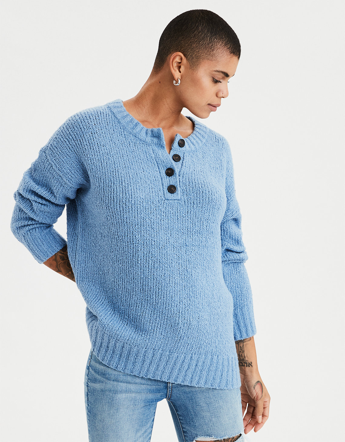 1549b69d4bf AE Henley Pullover Sweater. Placeholder image. Product Image
