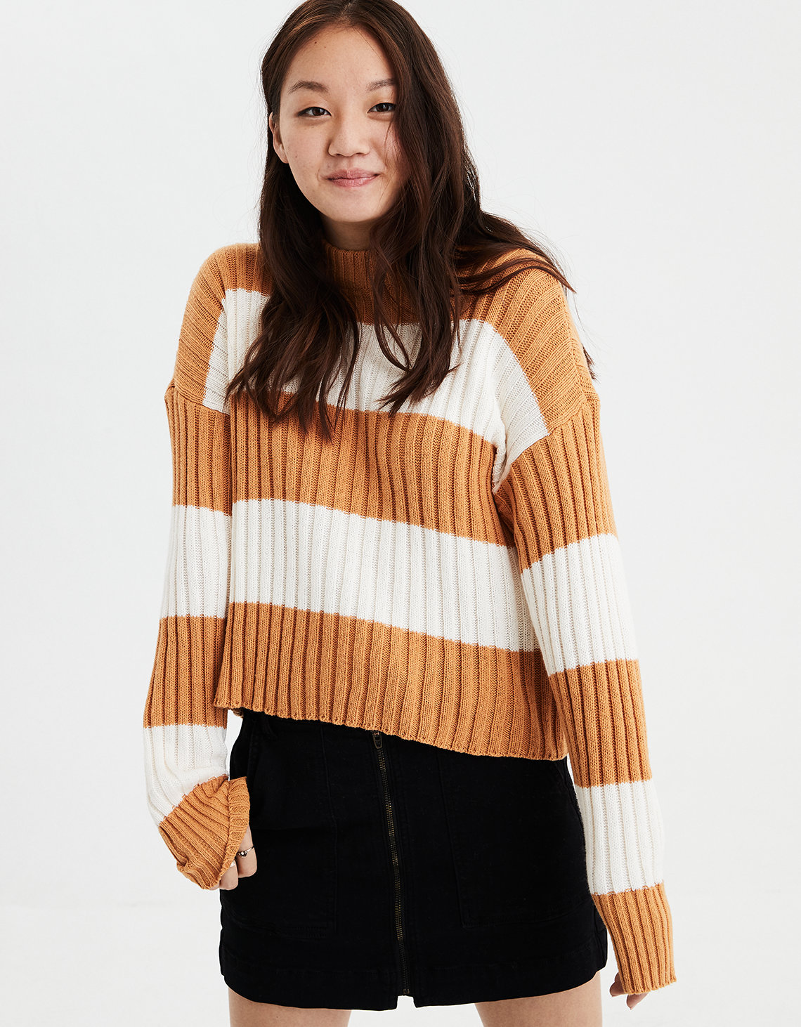 6c015c9458ba3b AE Rugby Stripe Rib Knit Pullover Sweater. Placeholder image. Product Image