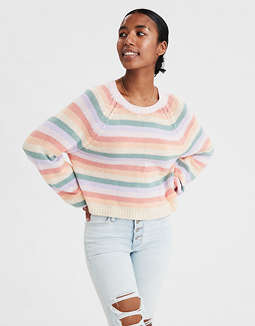 AE Multi Stripe Pullover Sweater