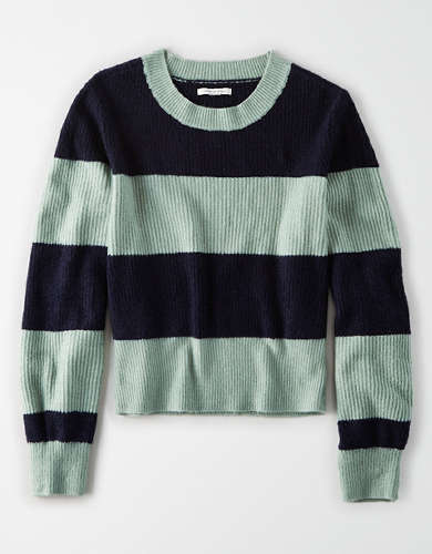AE Rugby Striped Crew Neck Sweater