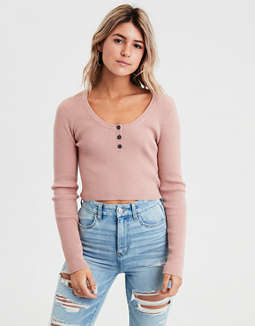 AE Scoop Neck Bodycon Pullover Sweater