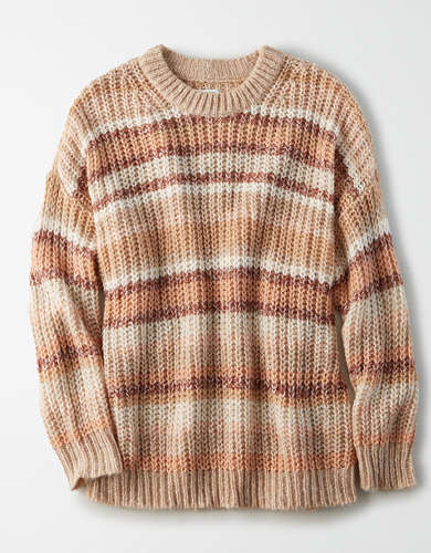 AE Marled Crew Neck Oversized Sweater
