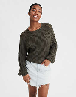 AE Pointelle Pullover Sweater