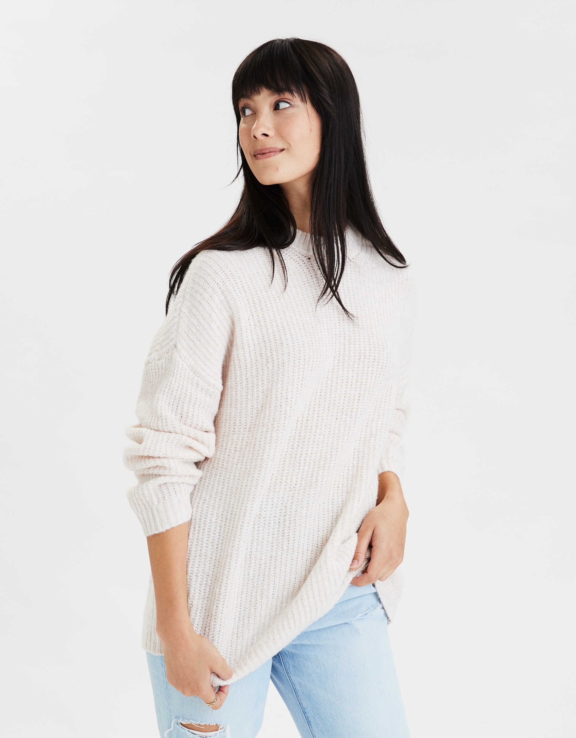 AE Oversized Softest Crew Neck Sweater