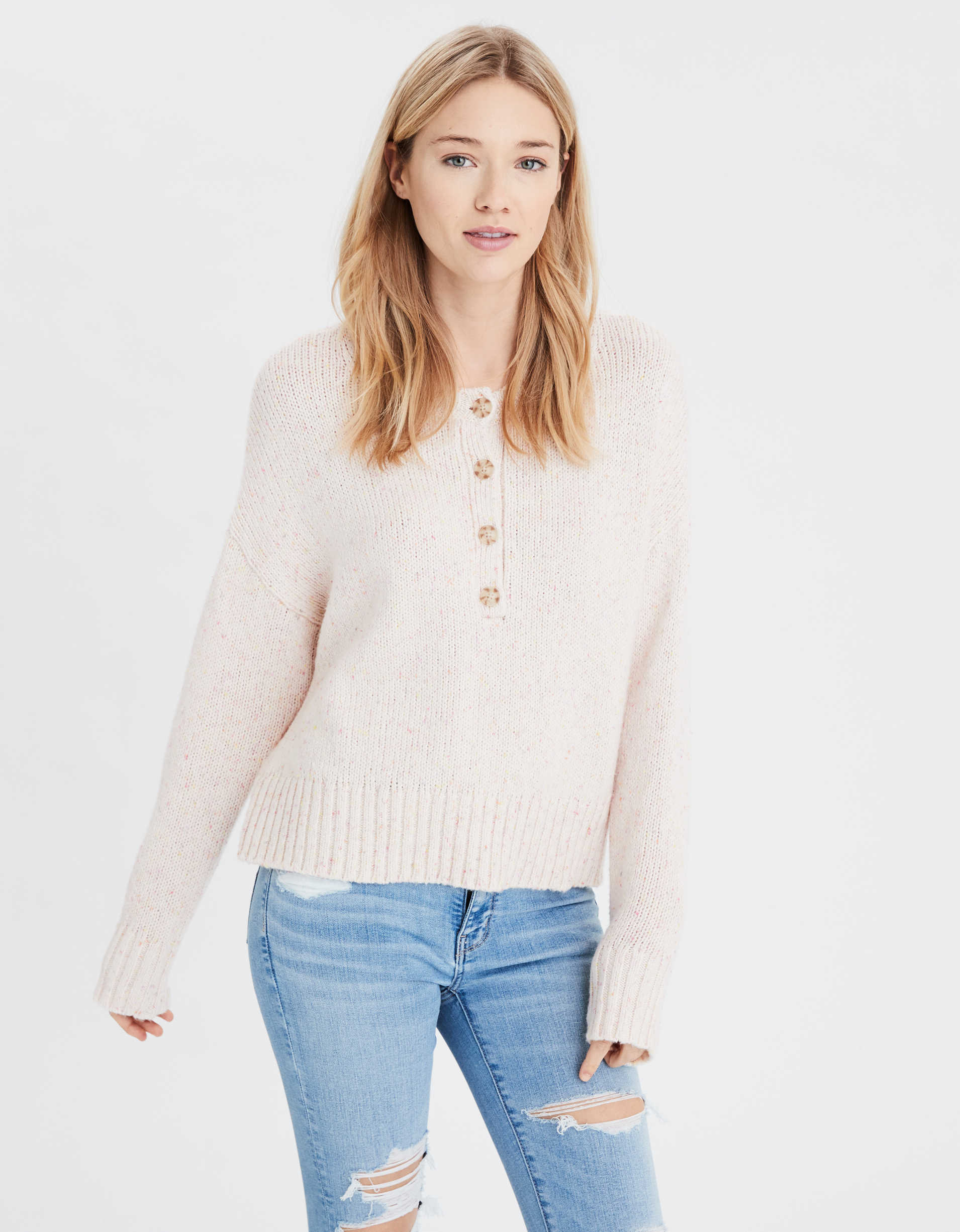 AE Slouchy Henley Sweater