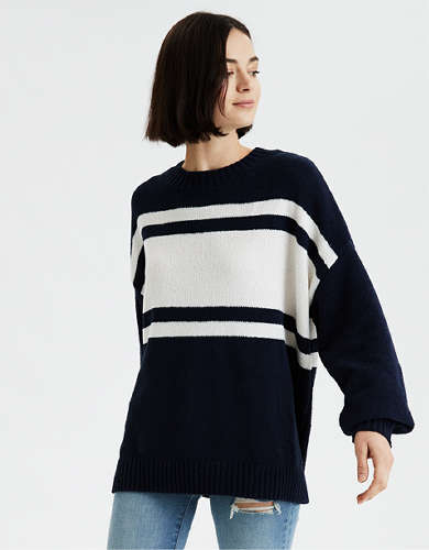 AE Chenille Crew Neck Oversized Sweater