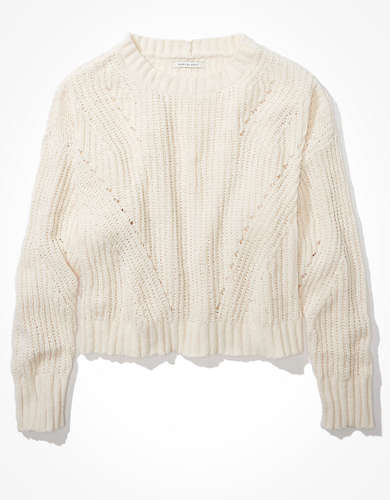 AE Chenille Crew Neck Sweater