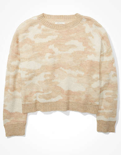 AE Camo Crew Neck Sweater