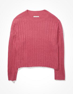 AE Cropped Dreamspun Crew Neck Sweater