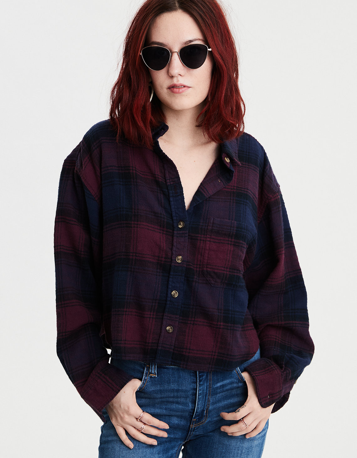 1786f465fac3 AE Ahhmazingly Soft Cropped Boxy Button-Down Shirt
