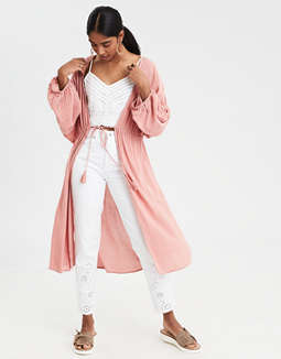Ae Tie Front Kimono by American Eagle Outfitters