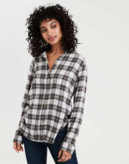 AE Ahh-mazingly Soft Plaid Boyfriend Shirt