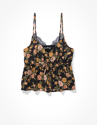 AE Printed Tie-Front Cami