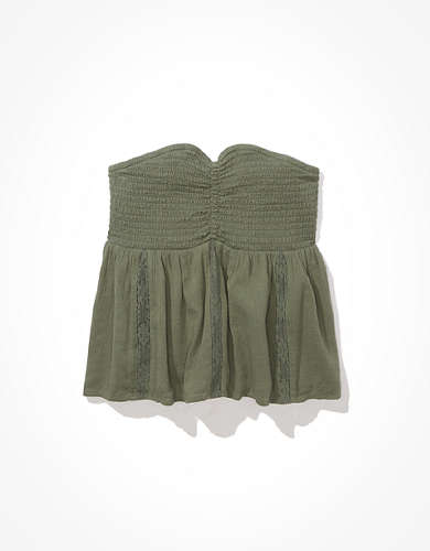 AE Smocked Babydoll Tube Top