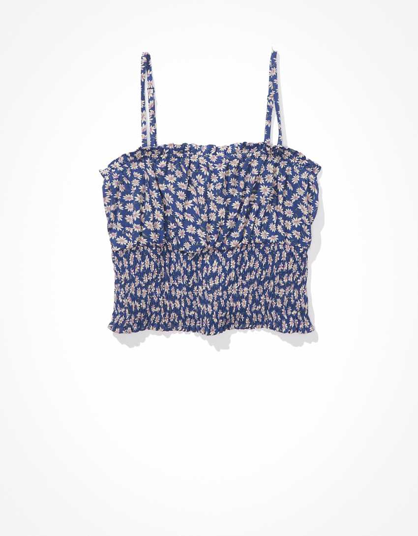 AE Floral Smocked Cami