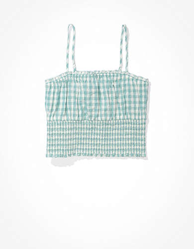 AE Gingham Smocked Cami