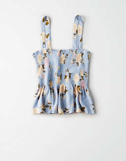 Ae Smocked Tie Strap Camisole by American Eagle Outfitters