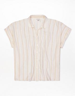 Рубашка на пуговицах с коротким рукавом AE