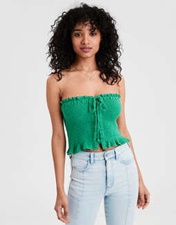 AE Lace-Up Tube Top