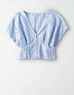 Ae Dolman Button Front Shirt by American Eagle Outfitters