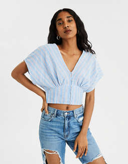 AE Dolman Button Front Shirt