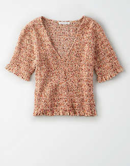 AE Smocked Ruffle Top