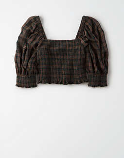AE Smocked Square Neck Top