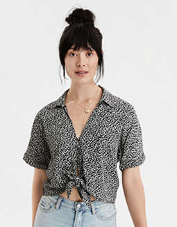 AE Short Sleeve Button Front Shirt