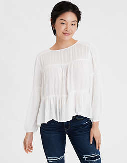 AE Tiered Peasant Top