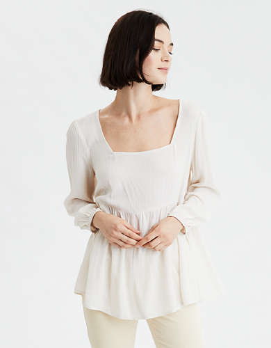 AE Square Neck Long Sleeve Blouse