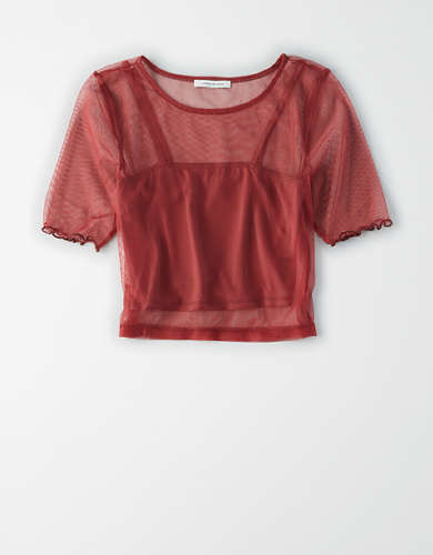 AE Mesh Crew Neck T-Shirt