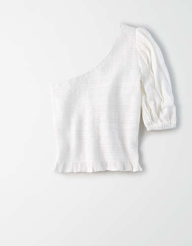 AE Smocked One Shoulder Blouse