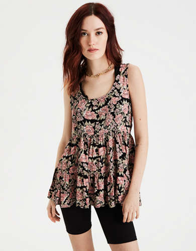 AE Hi-Low Scoop Neck Tank Top