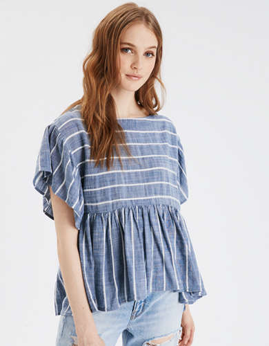 AE Square Neck Babydoll Tunic Top