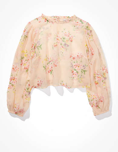 AE Chiffon High Neck Blouse