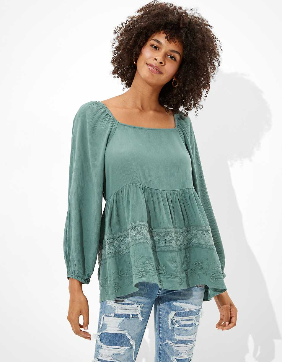 AE Square Neck Tunic Top