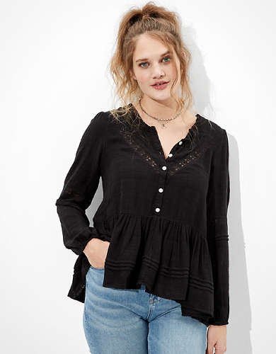 AE Henley Tunic Top