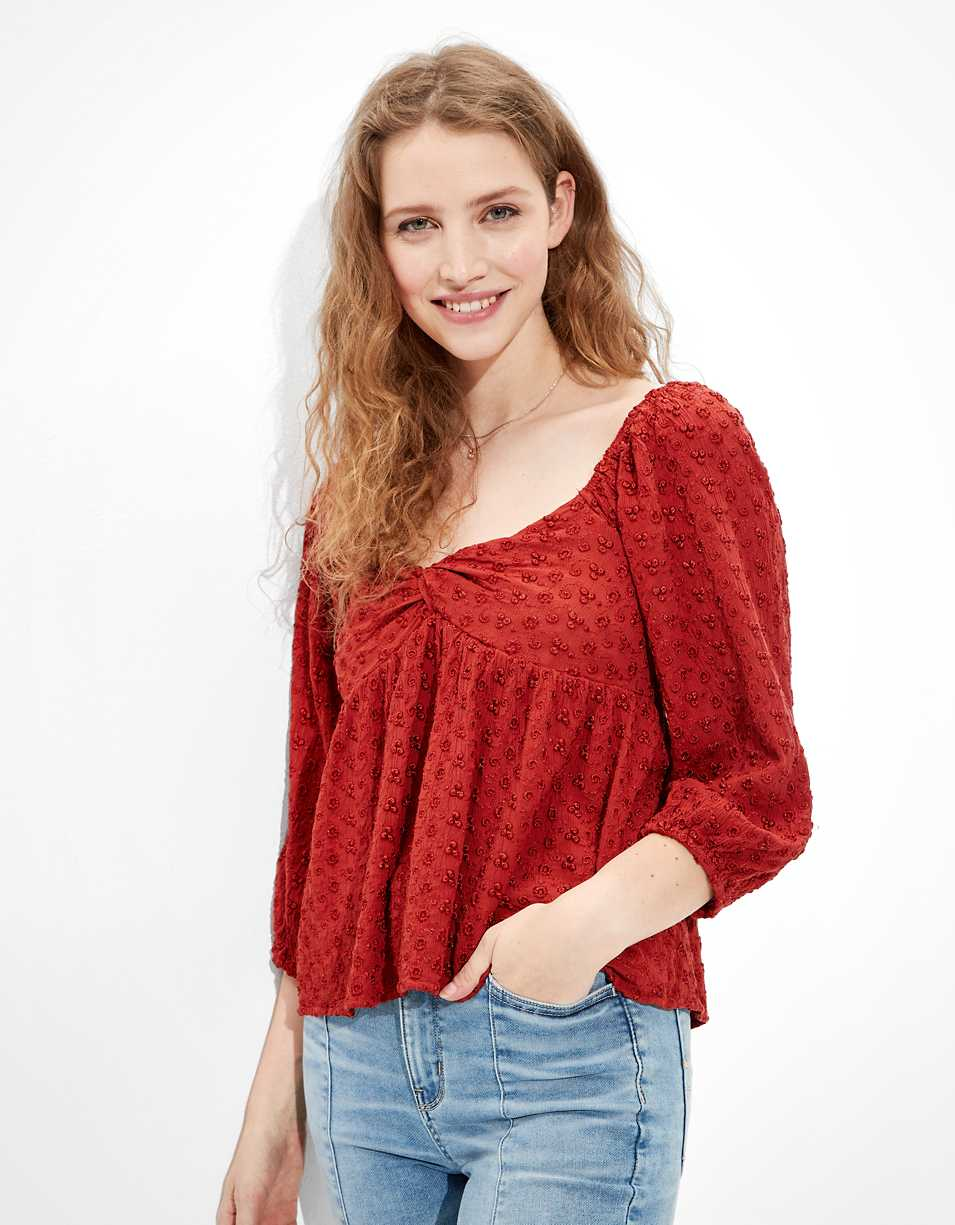 AE Twist-Front Blouse