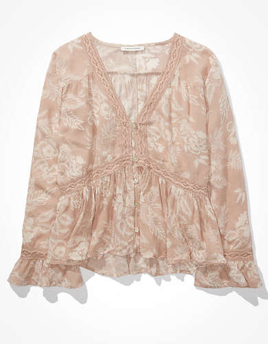 AE Lace Babydoll Top