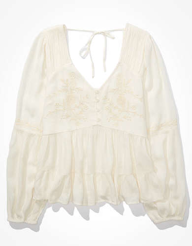 AE Embroidered Tunic Top