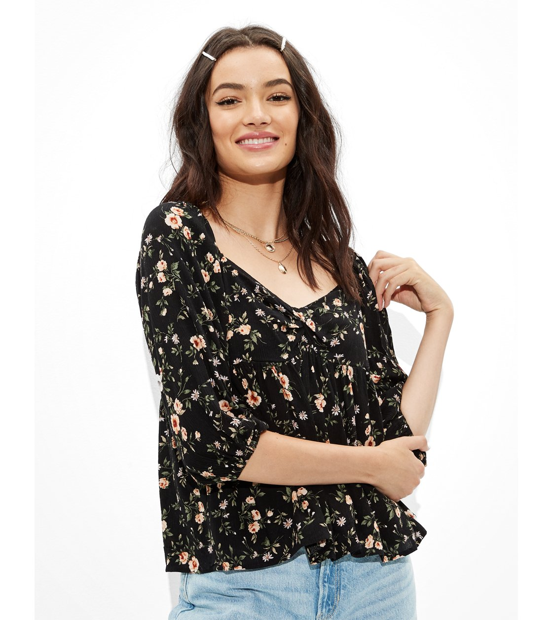 American Eagle AE Twist-Front Blouse