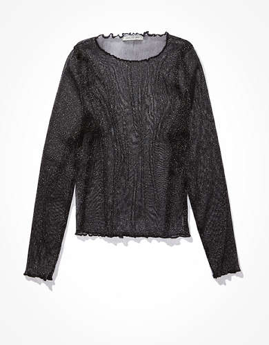 AE Long Sleeve Mesh Top