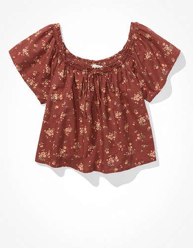 Блуза с открытыми плечами AE