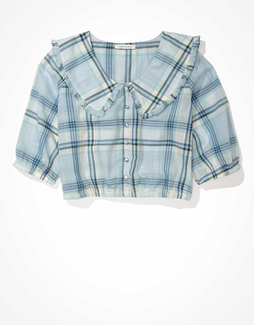 AE Peter Pan Button-Up Blouse