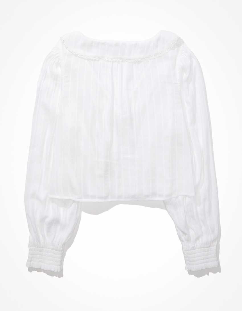 AE Chelsea Collar Button-Up Blouse