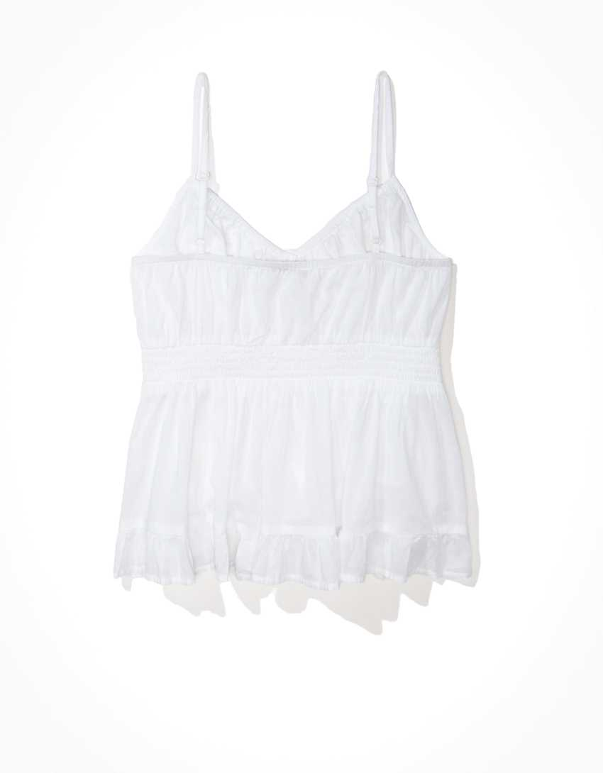 AE Button-Up Babydoll Top