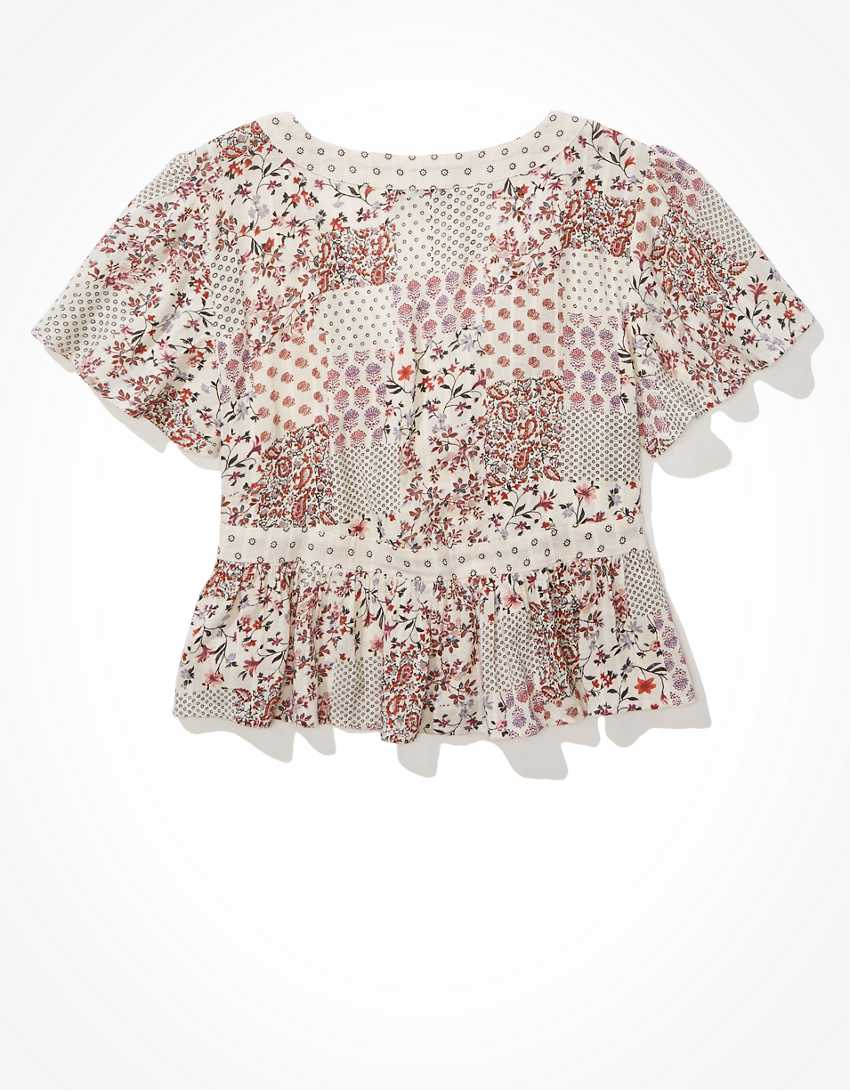 AE Wrap-Front Blouse